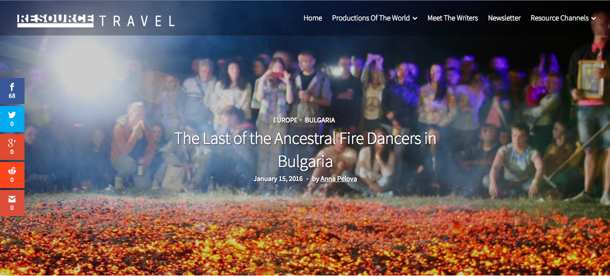 The last of the ancestral fire dancers in Bulgaria Anna Pelova Resource Travel